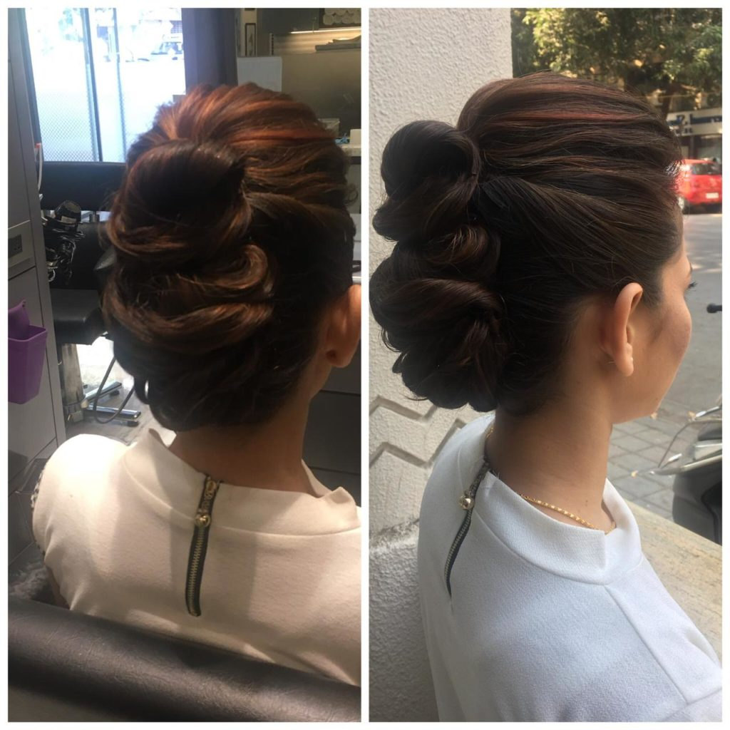Twisted Bun with a Puff - Hairstyles for Different Occasions