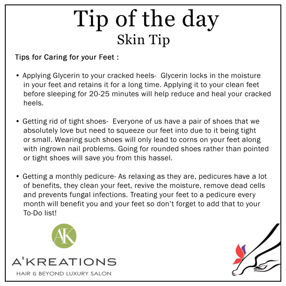 3 Tips for Caring for your Feet