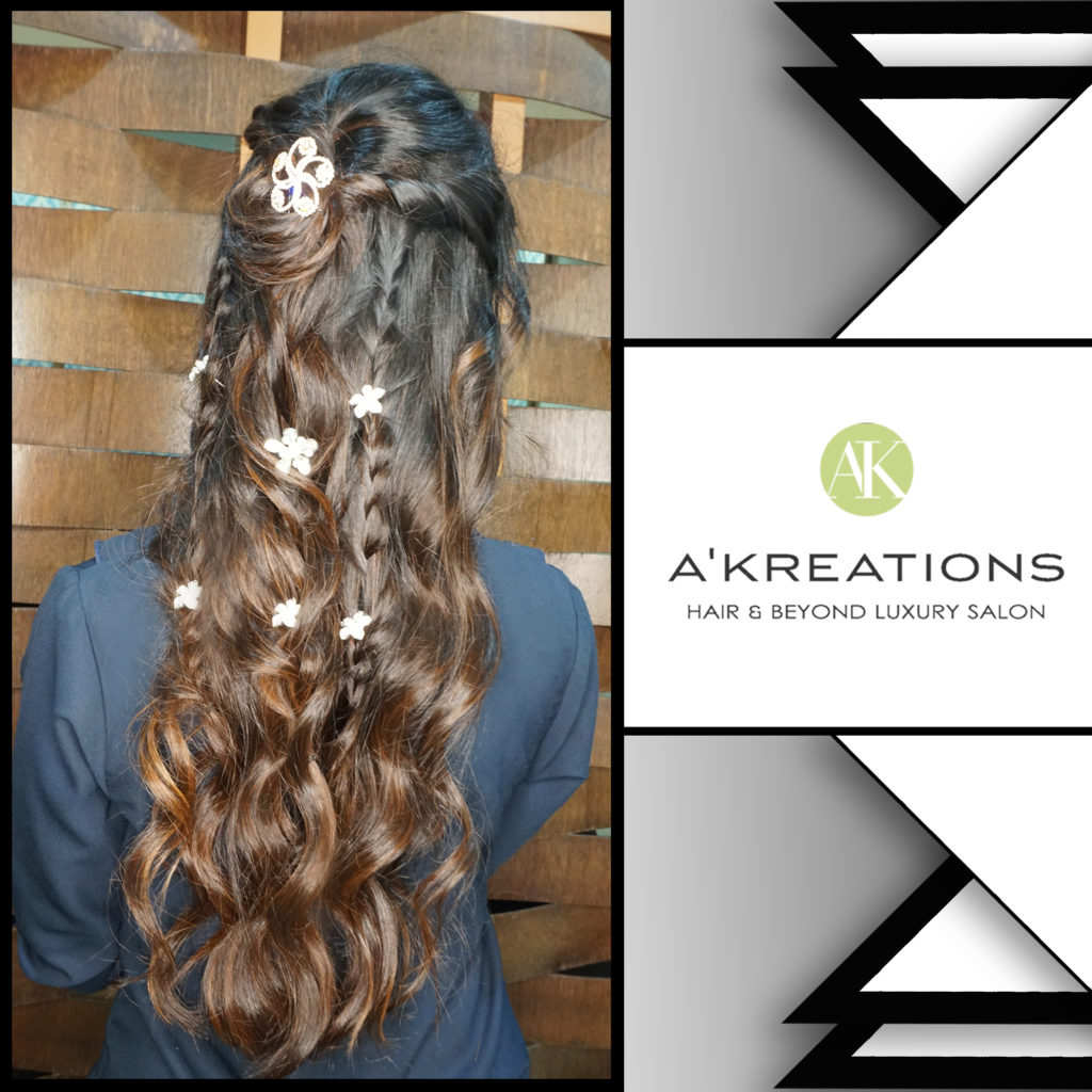 Double-sided twists with finely teased braids