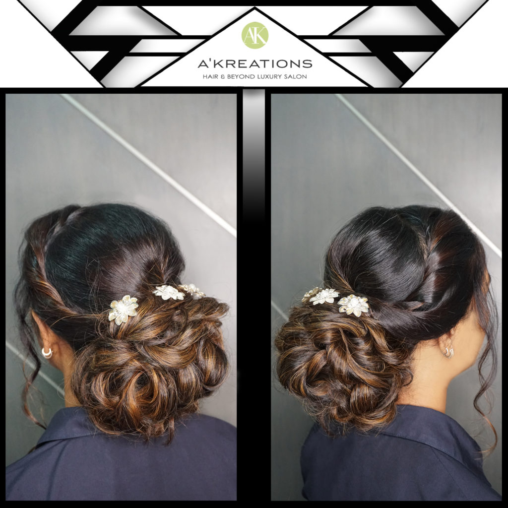 Double-sided twists with a messy voluminous low bun