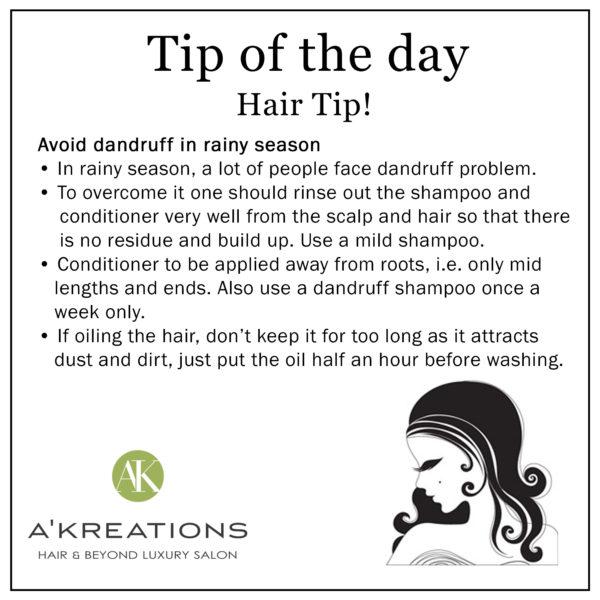 Dandruff Tips