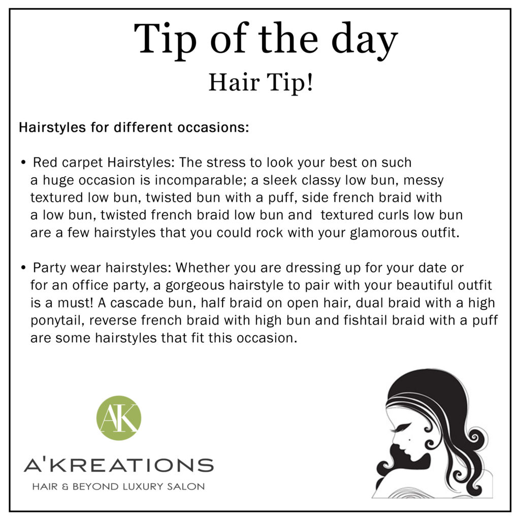 Different Hairstyles Tips
