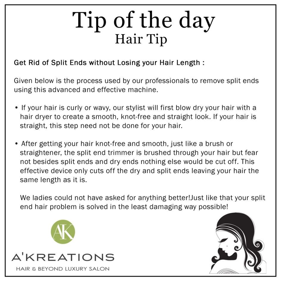 Get Rid of Split Ends without Losing your Hair Length