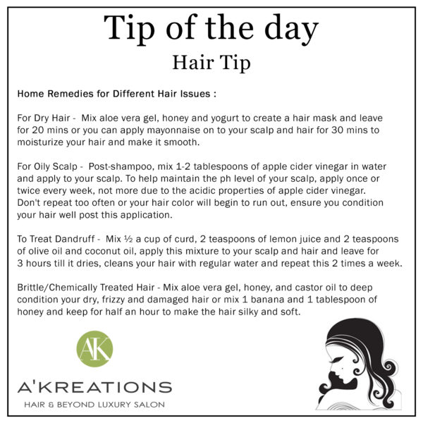 Home Remedies for common hair problems