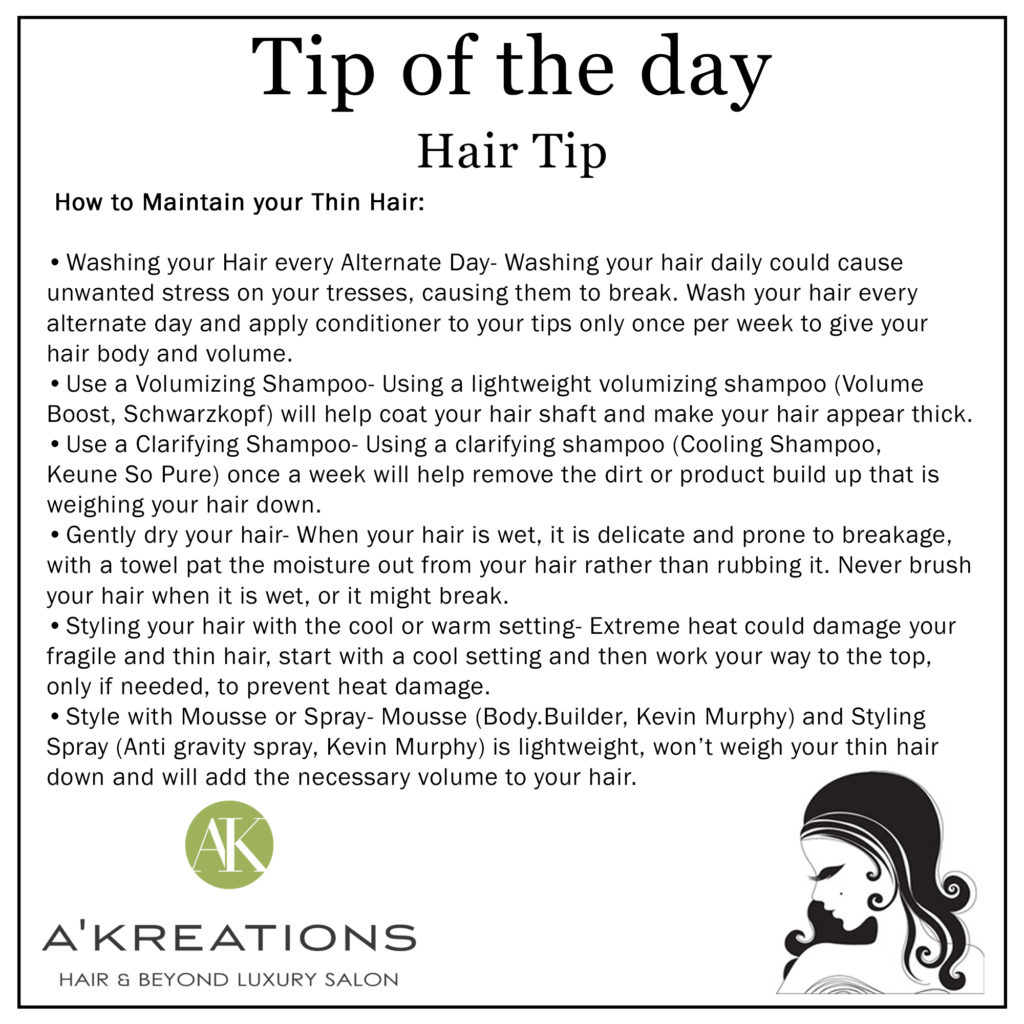 How to Maintain your thin Hair_