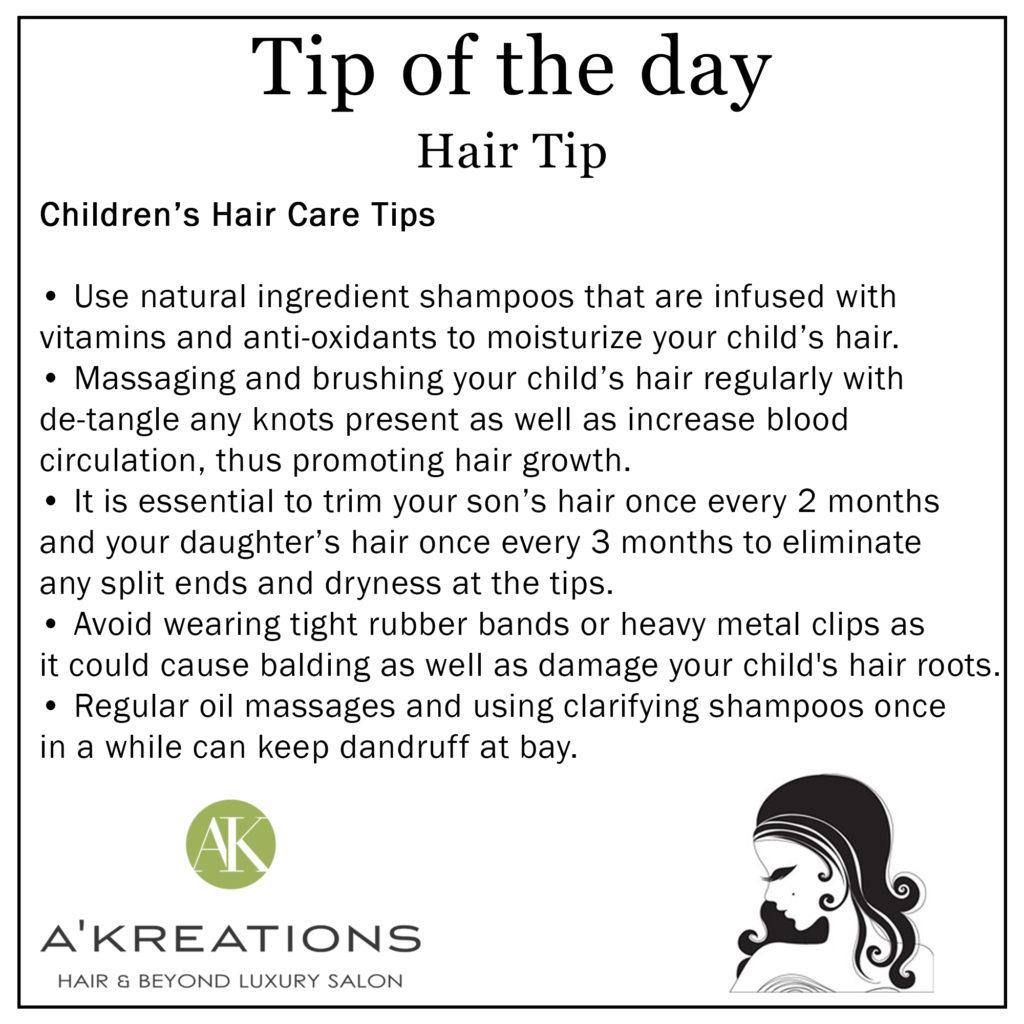 Children's Hair Care Tips