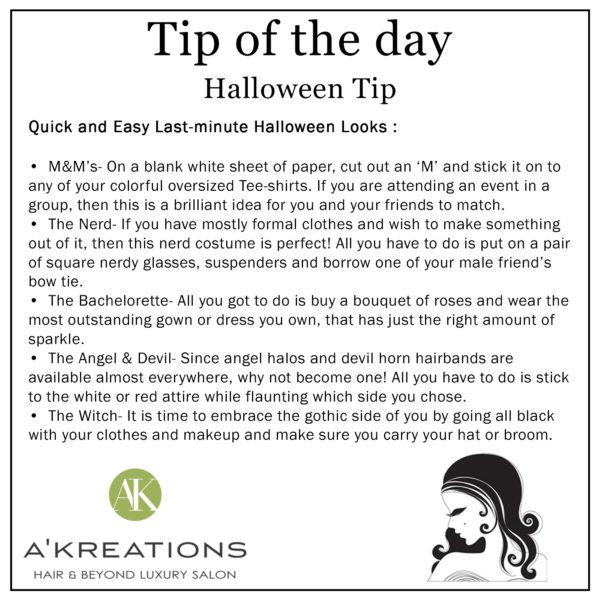 Last Minute Halloween tip
