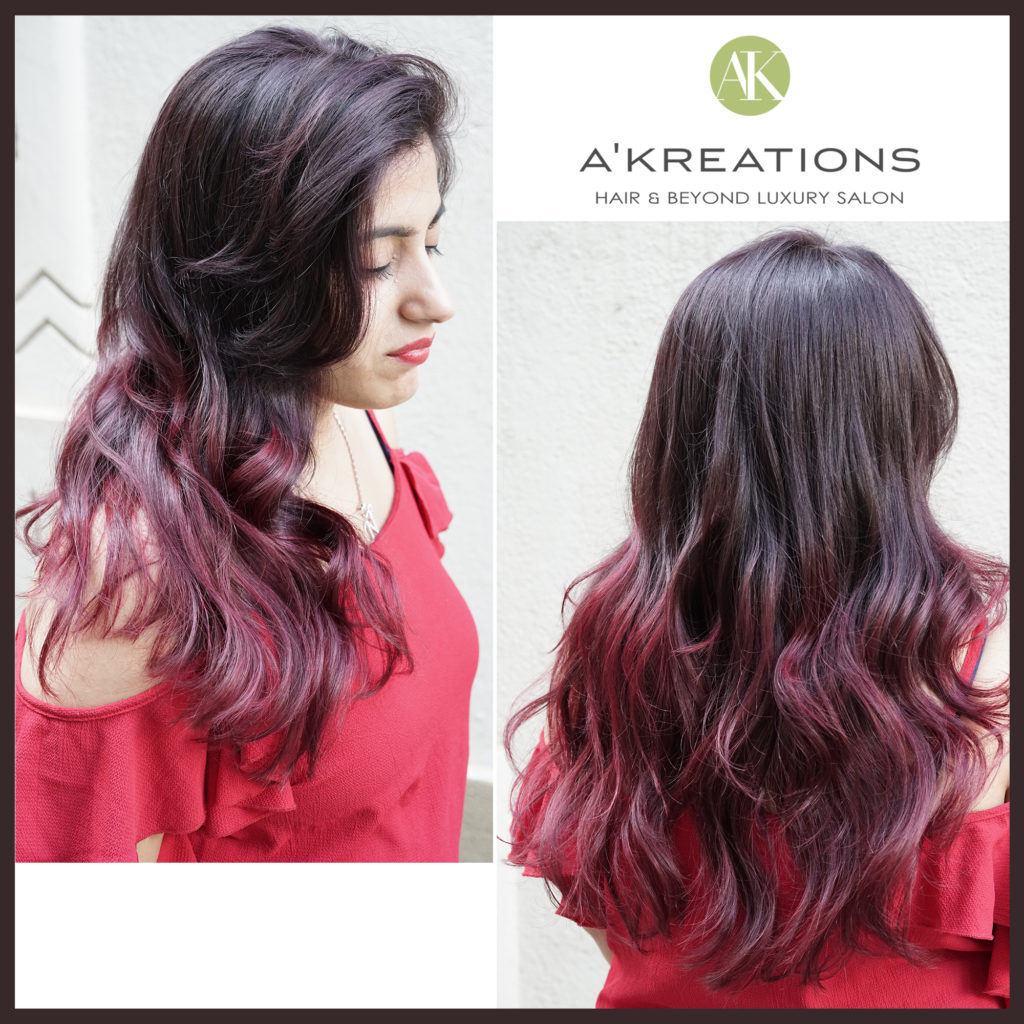 Magenta Red Ombre