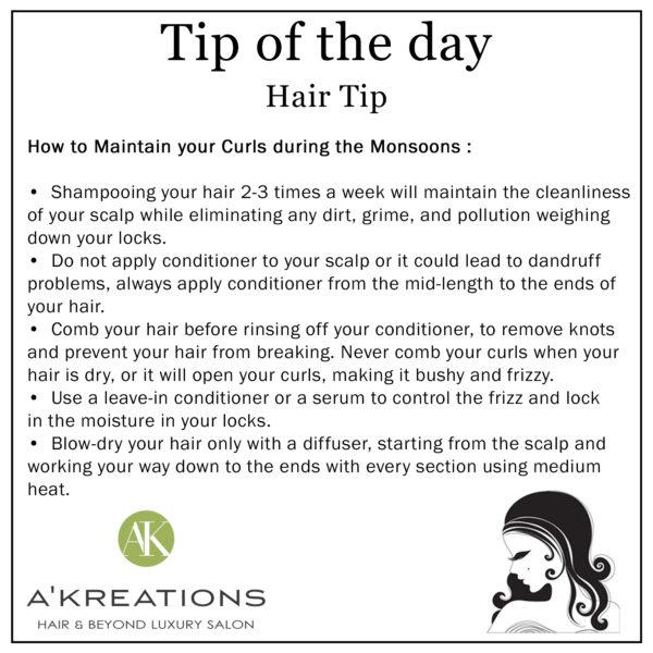 Monsoon Hair Care Tip