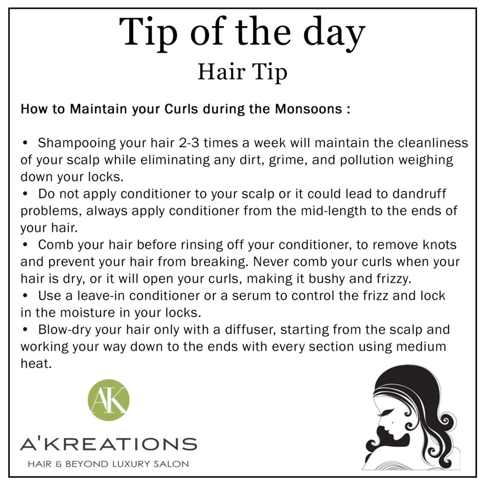 Monsoon Hair Care Tip