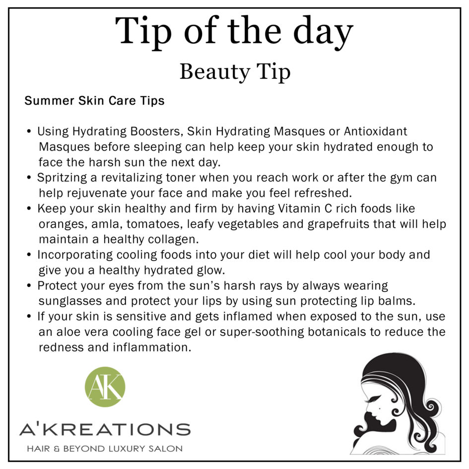 Summer Skin Care: Blog - A'Kreations Luxury Salon