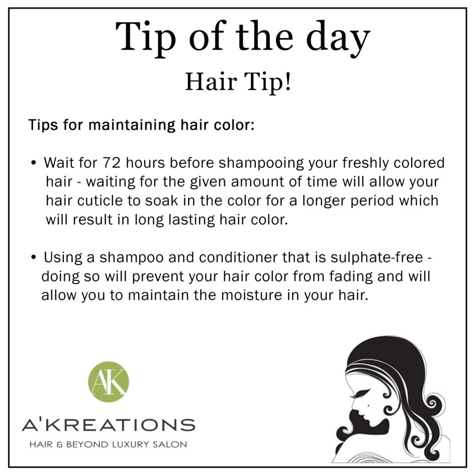 Tips for Maintaining Hair Color