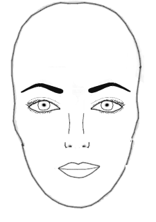 Eyebrows Shapes for Oval Face
